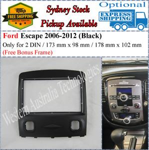 Fascia facia Fits Mazda Tribute Ford Escape Black Double Two 2 DIN Dash Kit