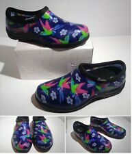 Sloggers Waterproof Garden Shoe Hummingbirds Womens Size 6 USA Made Flowers NWOB