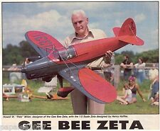 "Model Airplane Plans (RC): GEE BEE ZETA 1/5 Scale 59"" for .60ci by Henry Haffke"