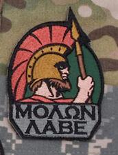 Mil-Spec Monkey Molon Labe Full Morale Patch Color Hook Back