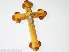 """Cross Crucifix 9"""" Wall Cross Olive Wood  La Cruz de las Catorce Estaciones 23CM"""