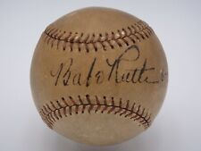 BABE RUTH 6-12-37 PSA/DNA CERTIFIED AUTHENTIC SINGLE SIGNED BASEBALL AUTOGRAPH