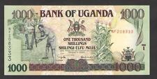 UGANDA   -  1000    SHILLINGS   2001  Prefix NF   P 39A  Uncirculated Banknotes