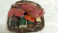 Body Shop 6 piece Gift Basket NEW - wash, gel, foot lotion, soap, bath beads
