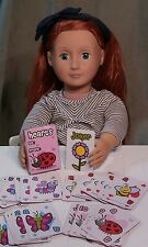 """Mini Hearts Playing Card Deck fits American Girl 18"""" Dolls"""