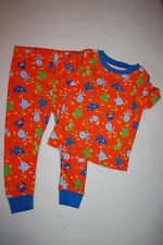 Baby Boys Knit S/S Pajamas Set SHARK OCTOPUS TURTLE CRAB FISH Orange Blue 24 MO