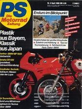 PS8804 + Spezialtest YAMAHA SR 500 + Panther-BMW MP 1000 + PS 4/1988