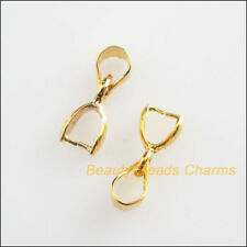 25 New Charms Connectors Heart Buckle Pendants Gold Plated 5.5x14mm