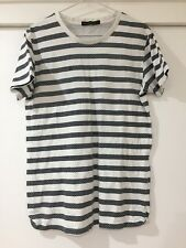 French Connection Mens White Striped Basic T Shirt Size M EUC