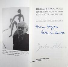 Heinz Berggruen: Ein Berliner kehrt heim, Barbara Klemm, 2 x signiert, Autogramm