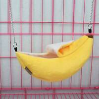 Cute Pet Hammock Small Hamster Parrot Banana Hanging Bed House Swing Cage Toys