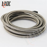 5M STAINLESS STEEL BRAIDED 1500 PSI -4AN AN4 4-AN OIL/FUEL LINE/HOSE 5METER 16FT