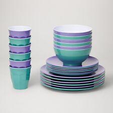 Barel Classic Majestic 24 Piece Melamine Dinner Set - Tumblers, Plates, & Bowls!