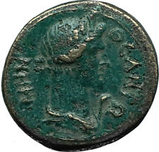 PERGAMON in Mysia 40AD Authentic Ancient Greek Coin ROMAN SENATE & ROMA i66312