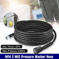 5M 5800PSI High Pressure Power Washer Hose Jet Wash Lance M14 X M22 To Spray Gun