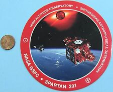 NASA STICKER vtg SPARTAN 201 GSFC High Altitude Observatory SMITHSONIAN '93
