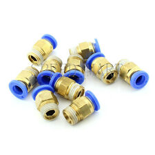 10XMale Connector 8mm Tube 1/4 BSPT Threaded Pneumatic Quick Release Air Fitting