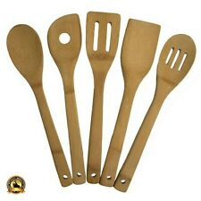 Wooden Cooking Utensil Set Bamboo Kitchen Tool Kit Equipment Home Tools 5-Piece