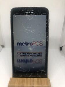 Coolpad Defiant 3632A MetroPCS Grey/Black, Clean ESN - Cracked Glass #3(28/50)