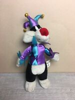 "Looney Tunes SYLVESTER the JESTER 13"" stuffed plush Warner Bros1997"