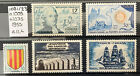 Lot 090: 5 Timbres France n°1009 1021 1023 1035 neuf** année 1955