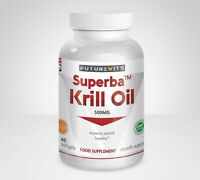 Krill Oil Capsules Antarctic Premium Quality SuperBa Futurevits 60 Bottle UK