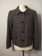 BNWOT M&Co black & white/grey tweed look jacket 18