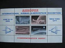 USA MNH 1966 Aeropex commemorative sheet of labels, nice item, check it out!