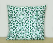 16x16 Indian Green Floral Printed Hand Block Cushion Cover Pillow Case Covers