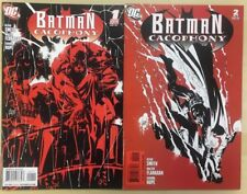 BATMAN CACOPHONY lot of (2) issues #1 & #2 (2009) DC Comics FINE