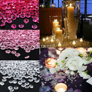 1000PC Wedding Decorations Scatter Table Clear Diamonds Acrylic Crystal 4.5mm