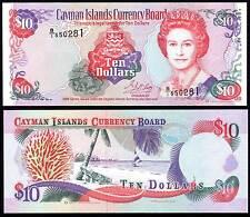 CAYMAN ISLANDS 10 DOLLARS (P18a) 1996 QEII UNC