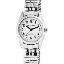 Quarz Uhr Watch Armbanduhr Damenuhr mit Metallarmband weiß 170022000016