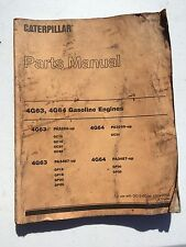 Caterpillar CAT 4G63 4G64 Gasoline Engines Parts Manual