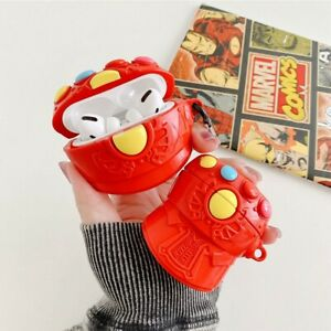 Iron Man Infinity Gauntlet Airpods Pro Protective Cover Case Silicone With Hook