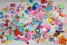 Barbie House and Doll Accessories Huge Lot Dishes Hangers Brushes Bags Food