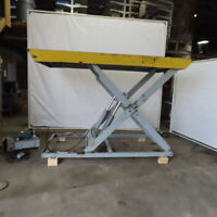 "2500 Lb. Hydraulic Scissor Lift Table 88""x110"" Top 10"" To 72"" Ht 3Ph 208-200/440"
