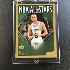 TONY PARKER 2003 UPPER DECK VICTORY #155 NBA ALL-STARS GOLD PARALLEL #'D /100