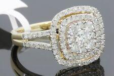 10K Oro Giallo 1.19 Carati Donna Vera Diamante Nuziale Matrimonio Fidanzamento