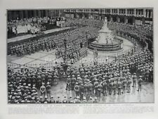 WW1 1915 25th July INTERCESSION DAY AT ST PAULS CATHEDRAL The Great War Print