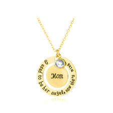 """I Used To Be Her Angel Now She's Mine"" Creatived Gold Crystal Necklace"