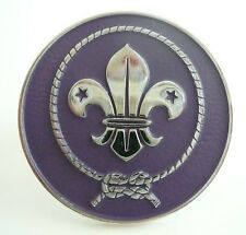 SCOUTS OF CHINA (TAIWAN) - WORLD SCOUT EMBLEM Neckerchief Woggle / Scarf Slide