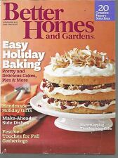 Better Homes and Gardens November 2011 Easy Holiday Baking/Festive Gatherings