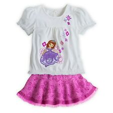 DISNEY STORE SOFIA THE FIRST TOP & SKIRT SET GIRLS SIZE 7/8 CUTE & STYLISH! NWT
