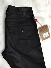 True Religion Mens Size 32x31 Ricky Skinny/ Slim Black Denim Jeans MSRP $216 NWT