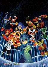 Megaman Group Wall Scroll Poster Anime Manga NEW