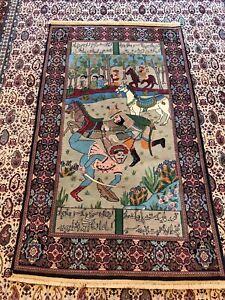 Fine Pictorial Handmade PersianTabriz 160x93cm