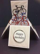 Beautiful Handmade Bicycle Themed Pop Up Card