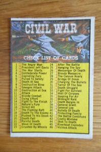 A&BC GUM CARD CIVIL WAR NEWS #88 CHECK LIST 1965 VG