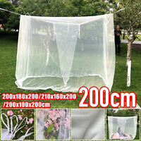 Large White Camping Mosquito Net Indoor/Outdoor 200x180x200/200x100x200cm  @K